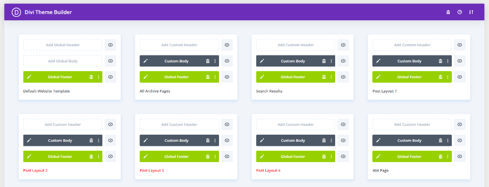 Divi Chef Theme Builder Layouts