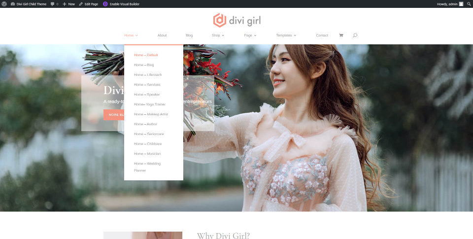 Divi Girl Headers