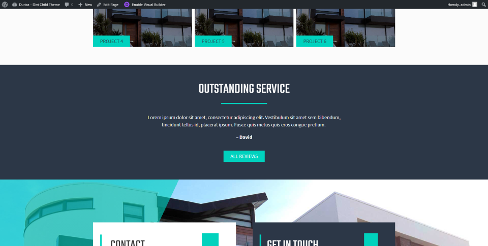 Duriza Home Page Testimonials Section