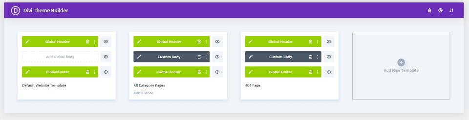 Duriza Theme Builder Layouts