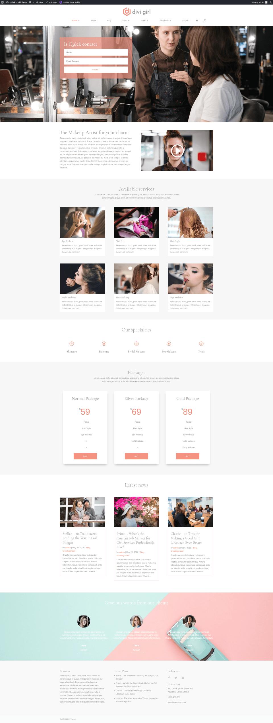 Makeup Artist Homepage