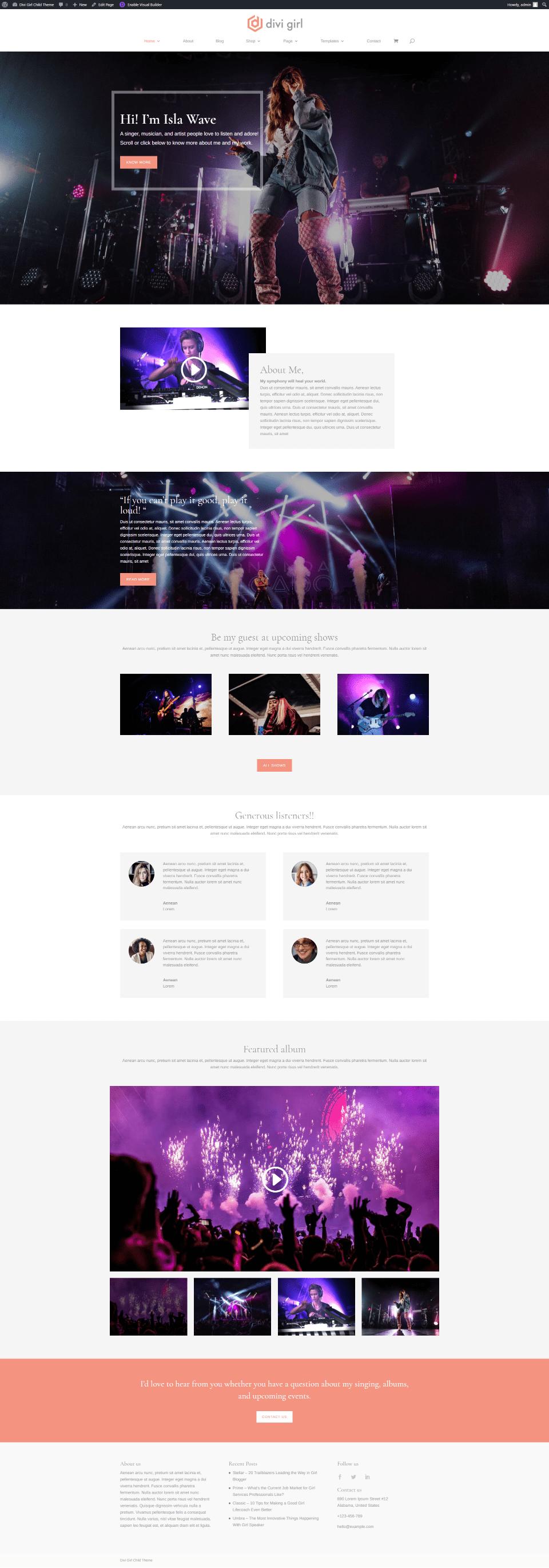 Musician Homepage