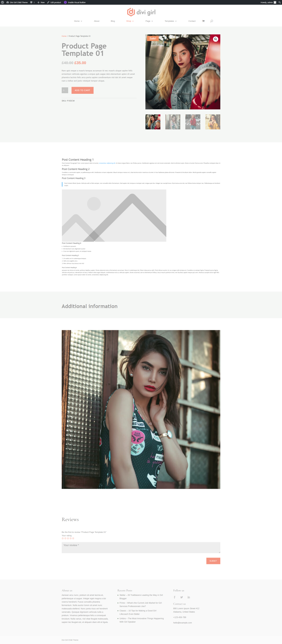 Product Template One