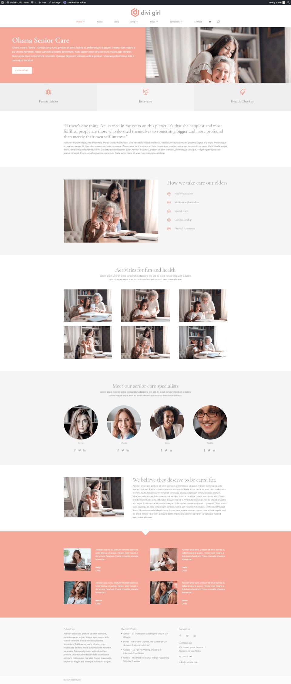 Senior Care Homepage