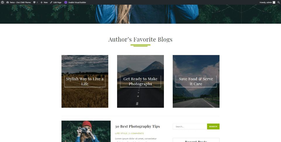 Blogues préférés de l'auteur