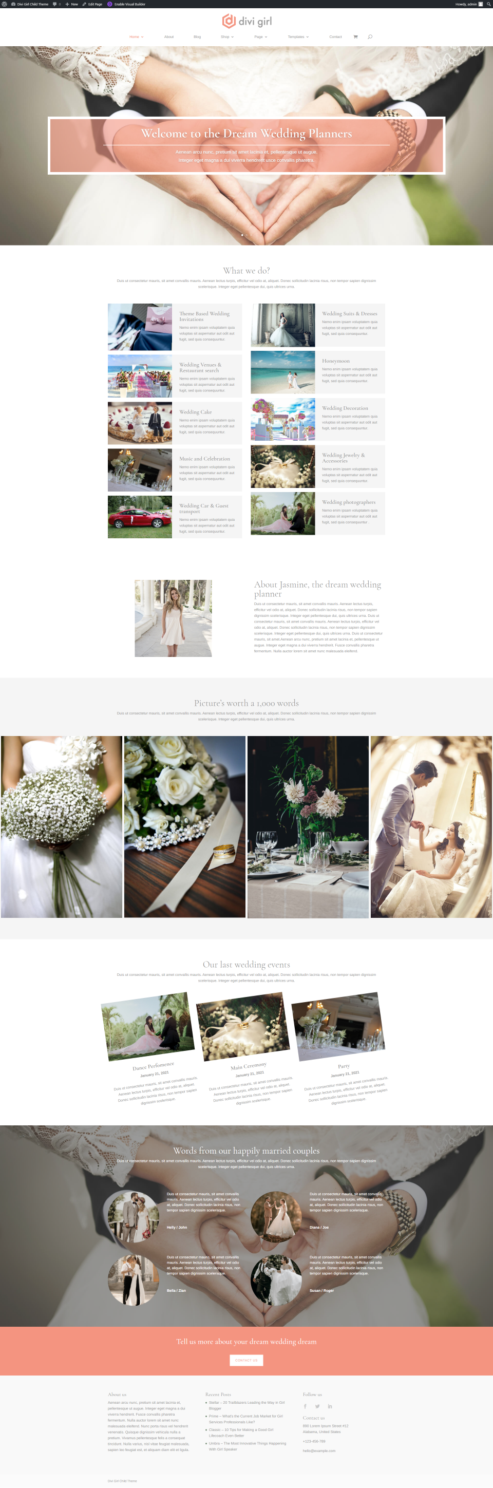Wedding Planner Homepage