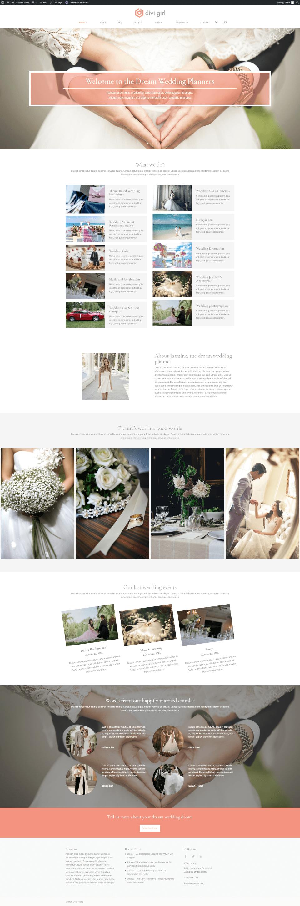Wedding Planner Homepage