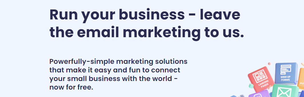 The AWeber home page for email marketing services.