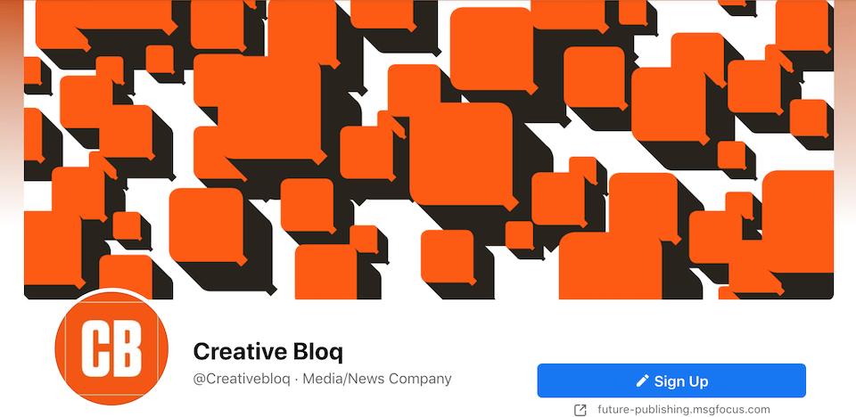 Creative Bloq's Facebook page.