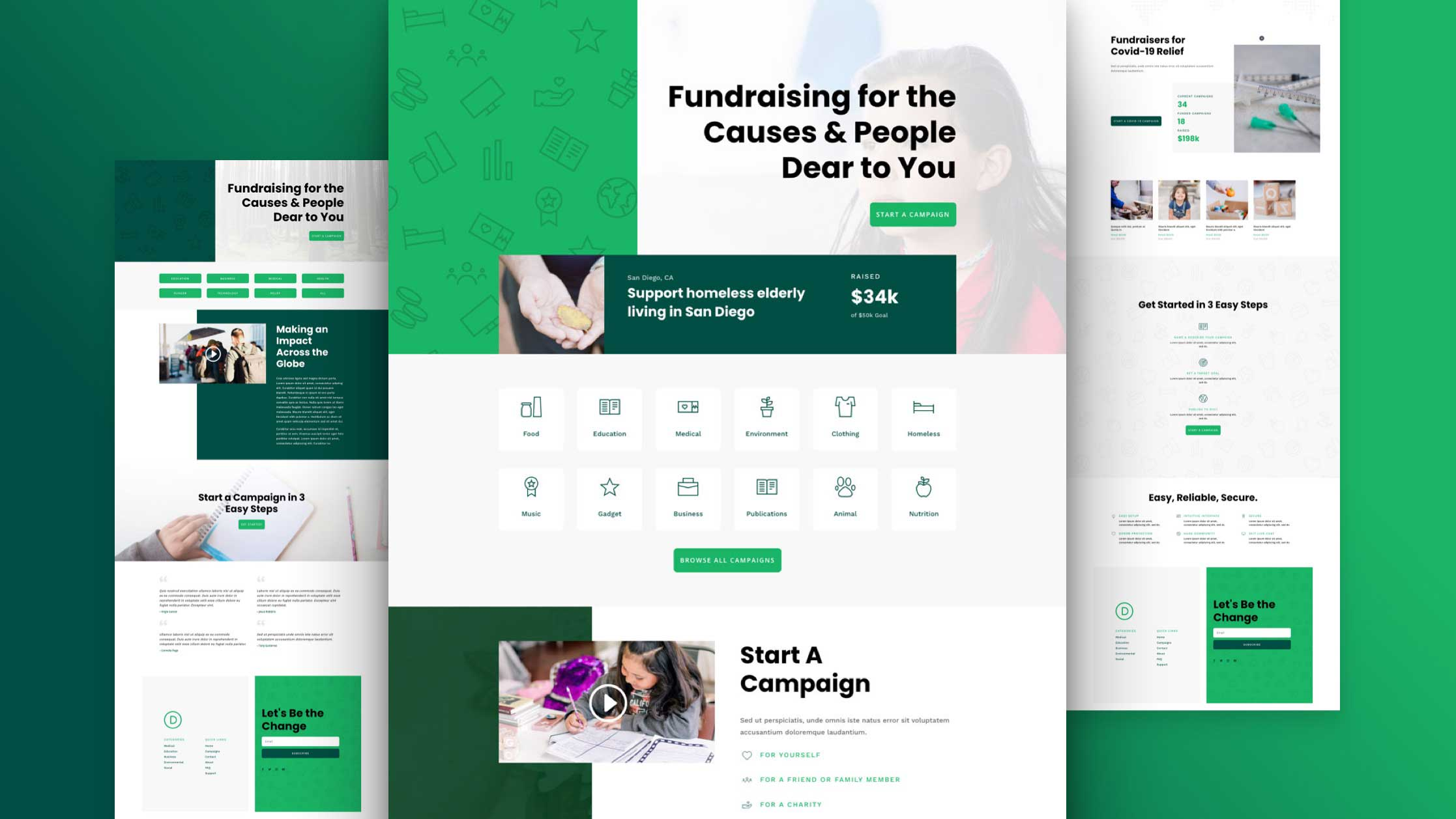 Get a FREE Crowdfunding Layout Pack for Divi