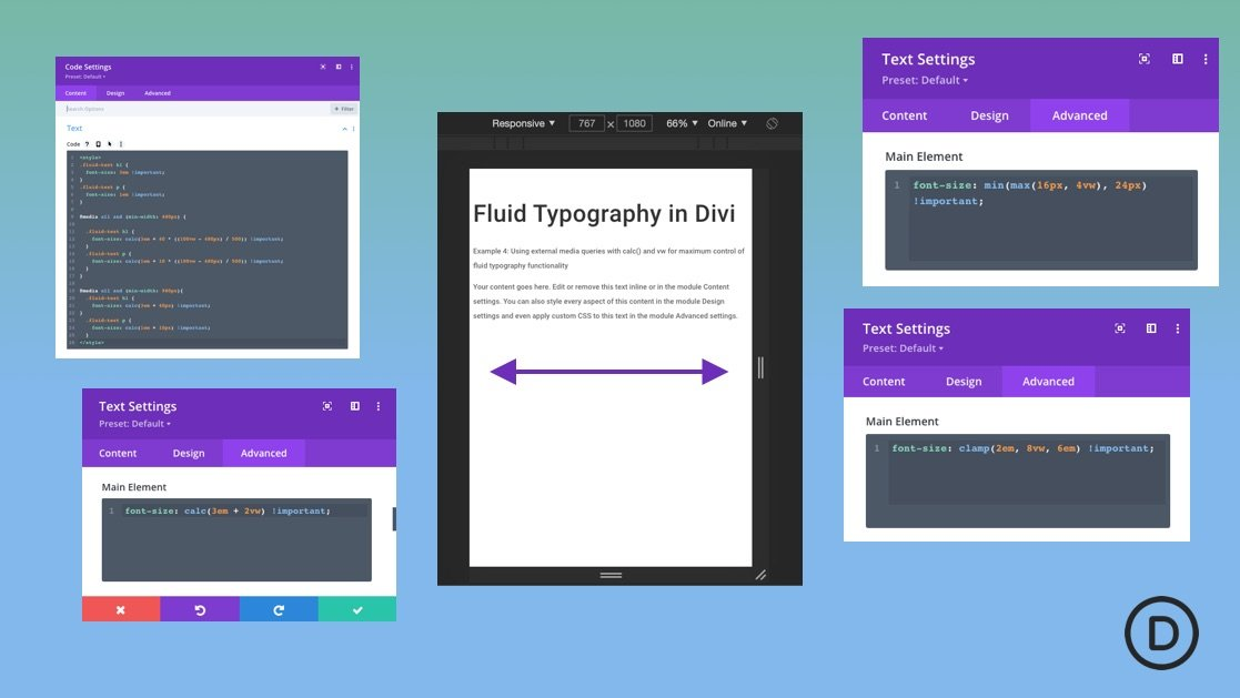 The Complete Guide for Creating Fluid Typography in Divi (6 Methods)