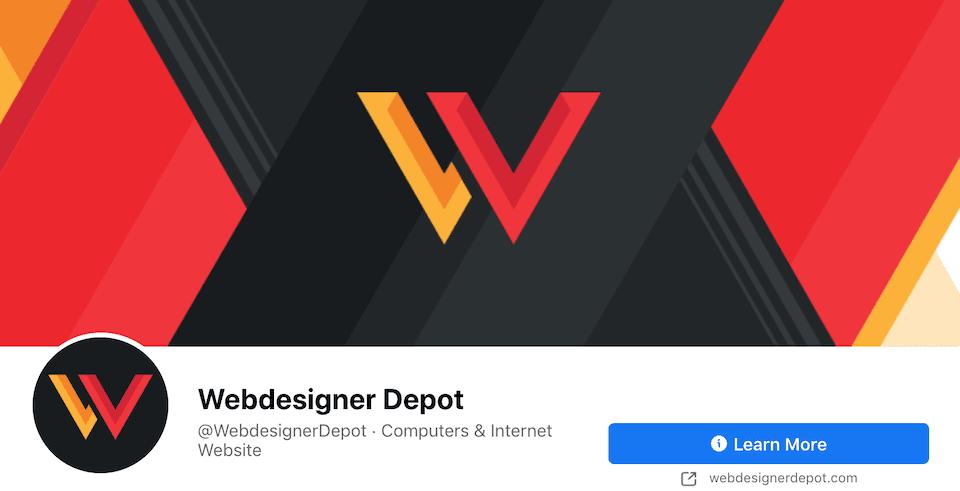 The Webdesigner Depot Facebook page.