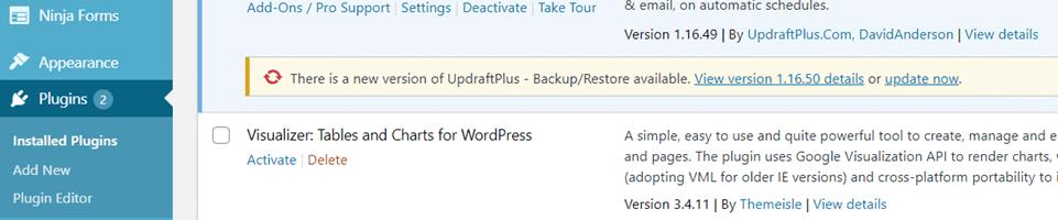 safely update plugins when needed