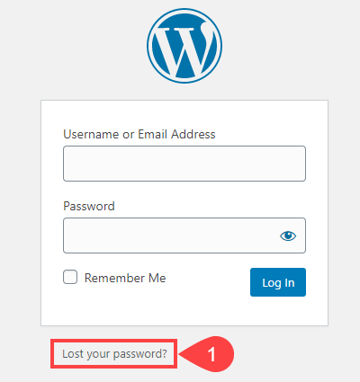 lost your password?