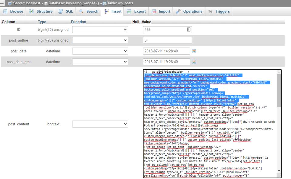 database deletion