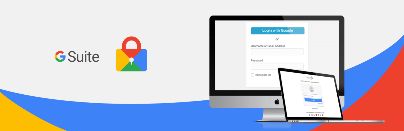 The Google Apps login banner.
