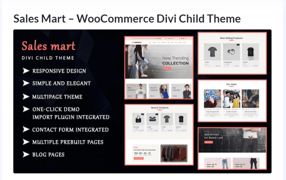 Purchase Sales Mart Divi Child Theme
