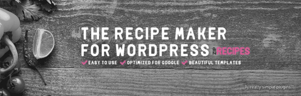 Recipe Maker For Your Food Blog