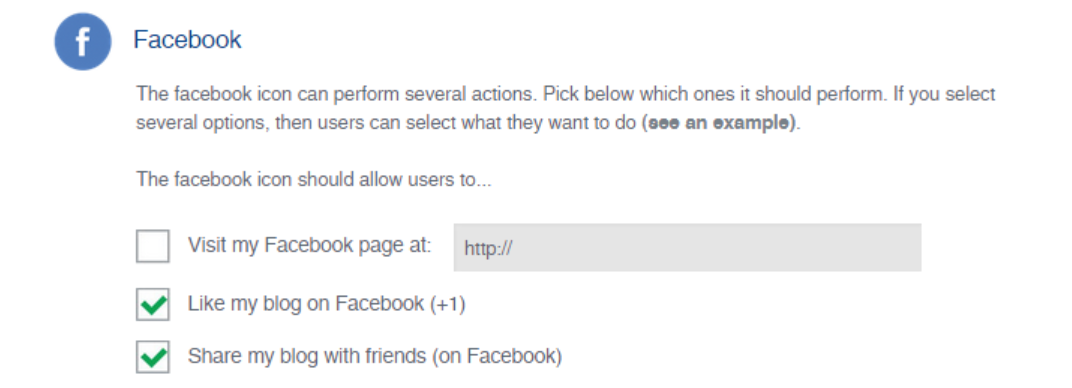 Modifying your Facebook social media icon functionality