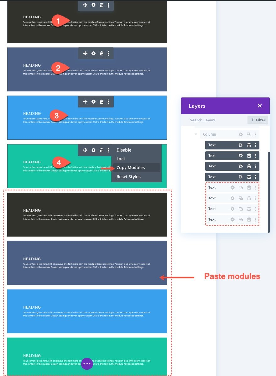 css grid layout for divi modules