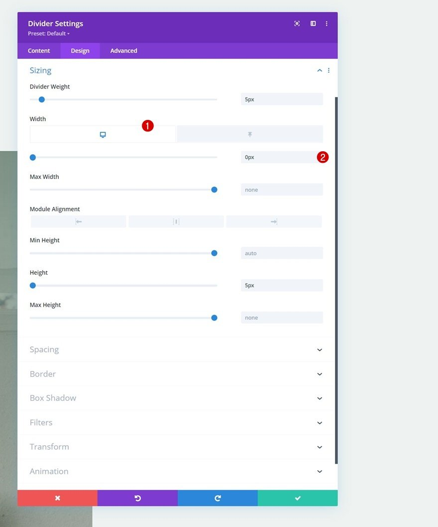 scroll effects and sticky options
