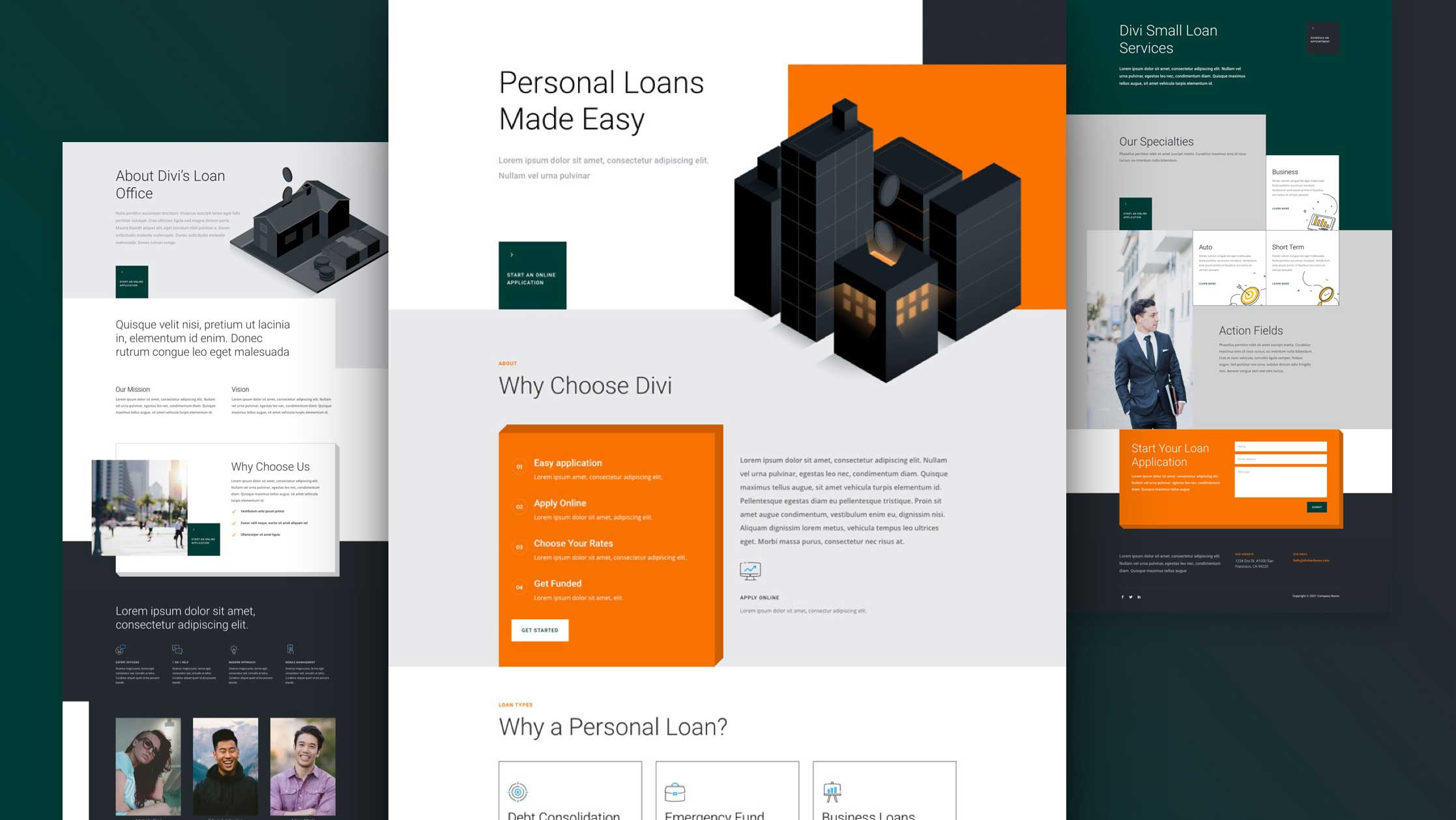 Get a FREE Personal Loan Layout Pack for Divi
