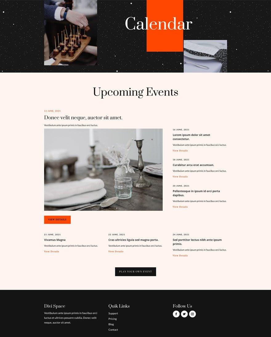 event venue website