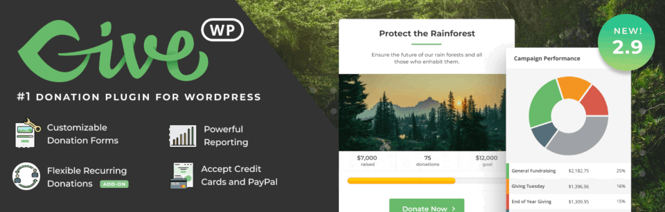 The GiveWP WordPress plugin for nonprofits.