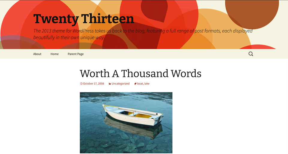 The Twenty Thirteen theme.