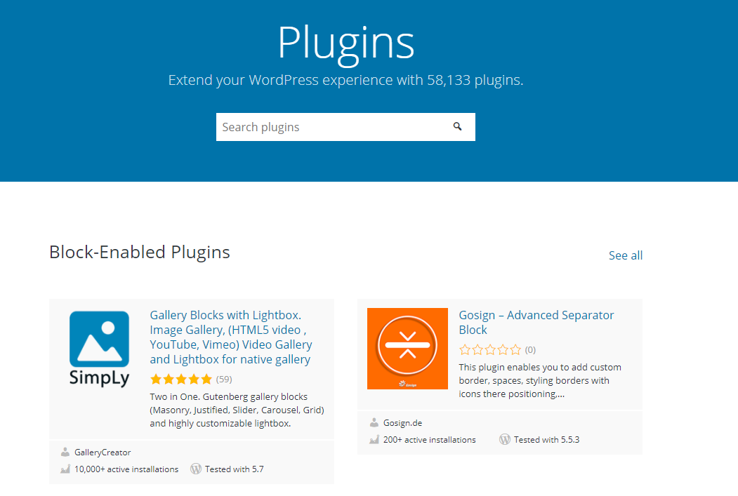 The WordPress.org plugin repository