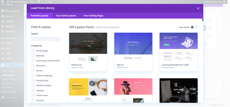 divi builder 404 plugin