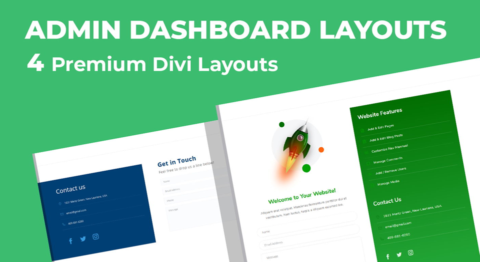 admin dashboard layouts
