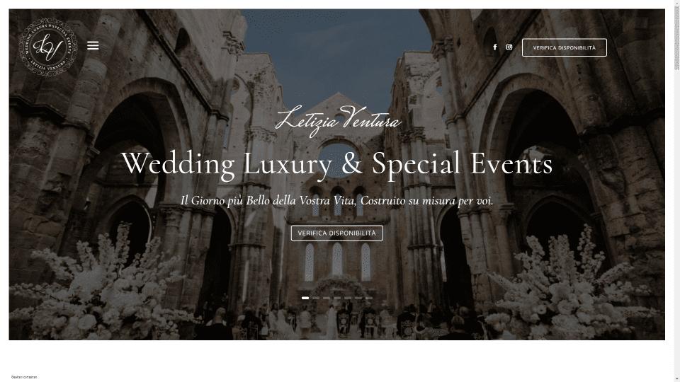 Événements spéciaux de luxe de mariage LV