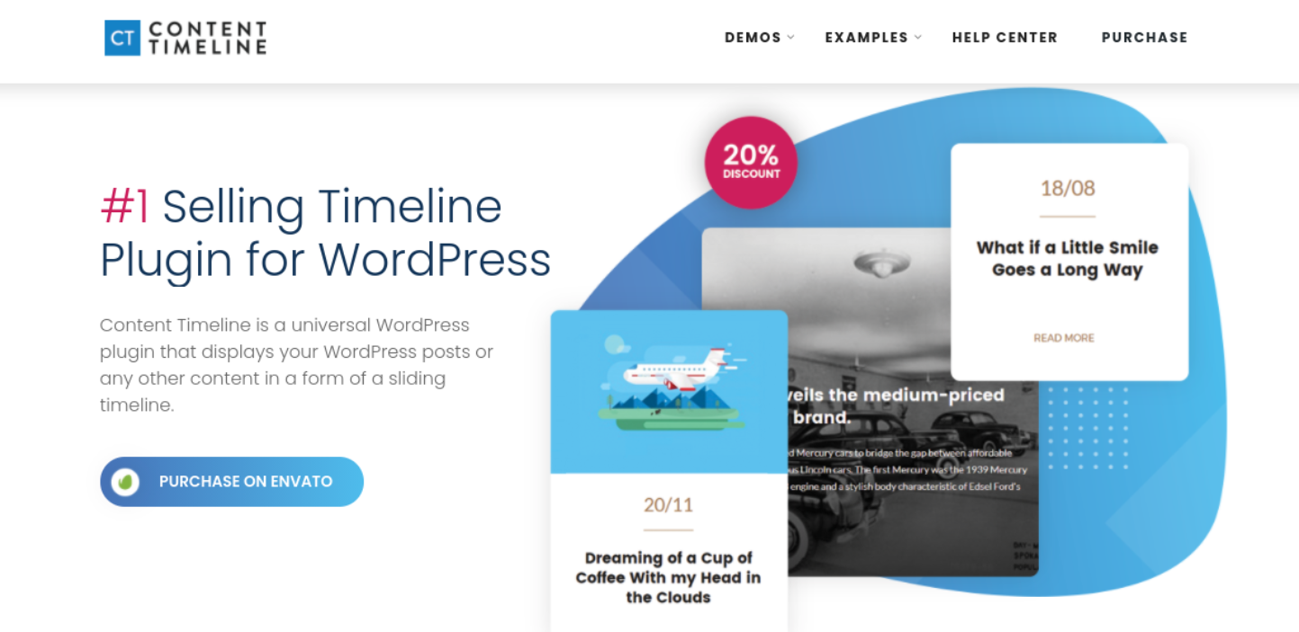 The Content Timeline WordPress plugin.