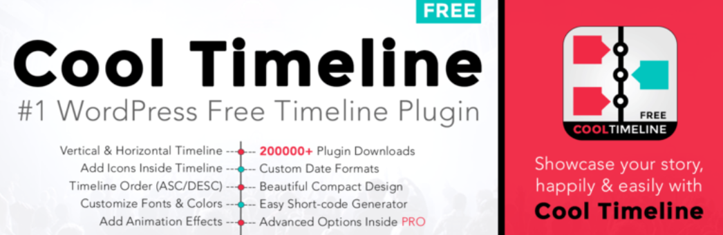 The Cool Timeline WordPress plugin.