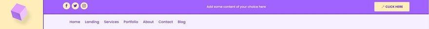 logo primary secondary menu bar