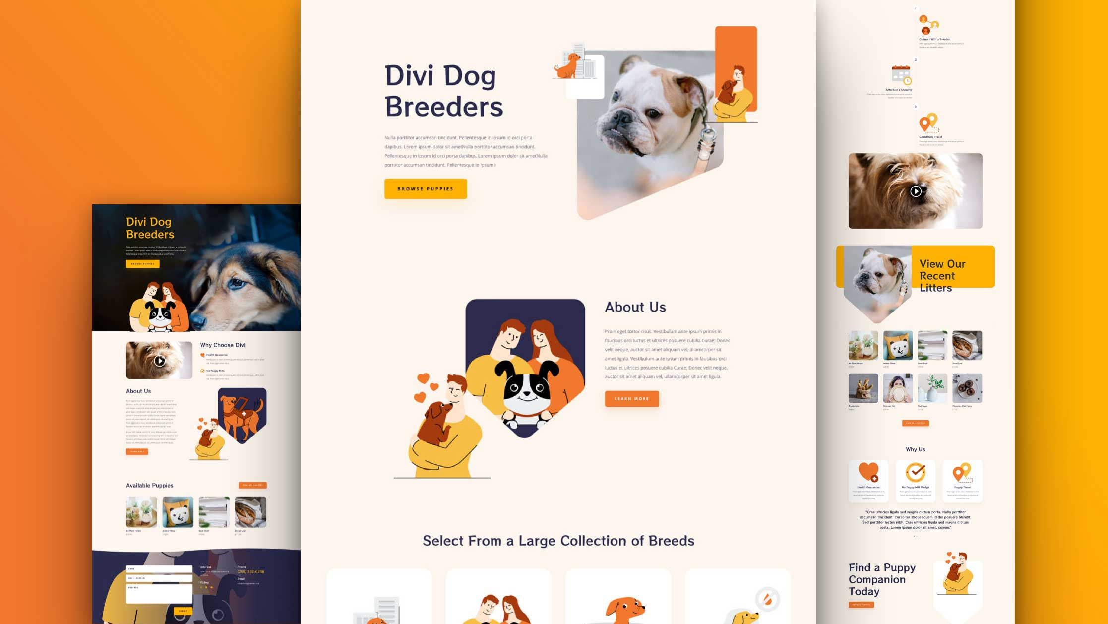 Get a FREE Dog Breeder Layout Pack for Divi