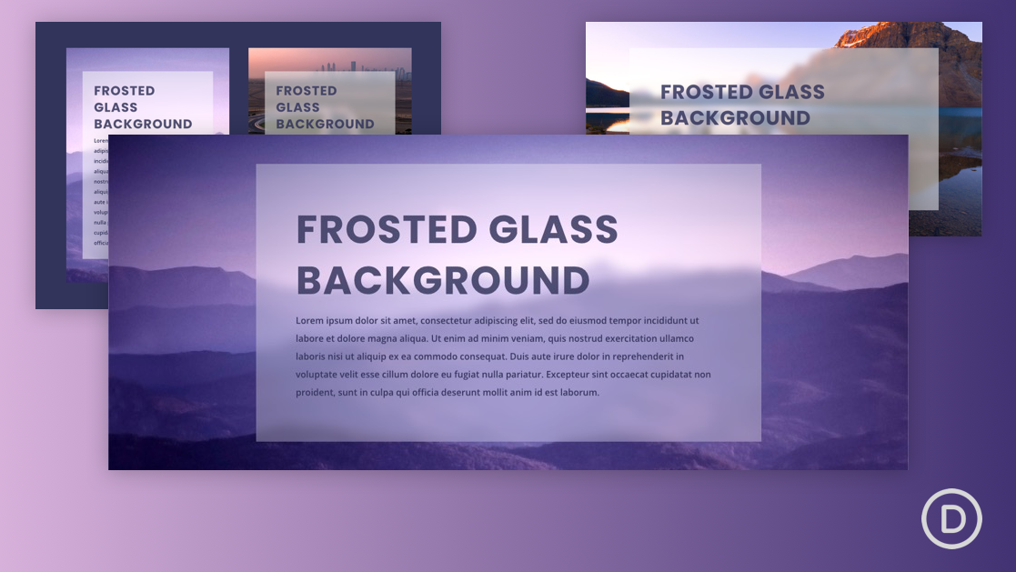 How to Create a Frosted Glass Background Design in Divi