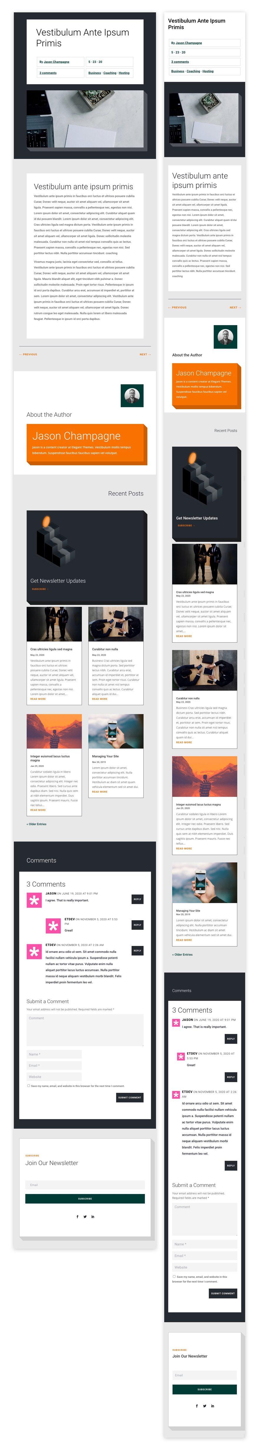 divi personal loan blog post template