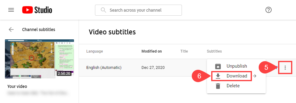 subtitles and details