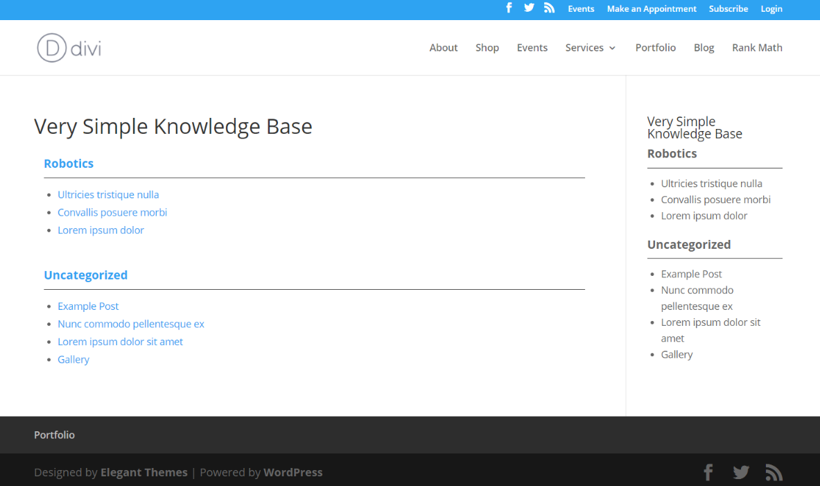 Very Simple Knowledge Base