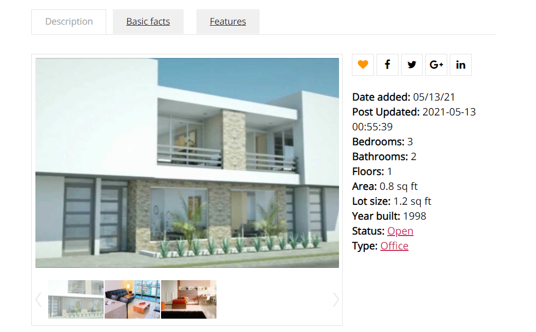 Sharing a real estate listing on social media