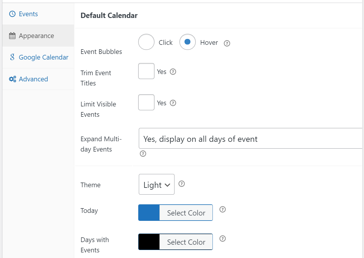 Customizing the style of your Google Calendar events