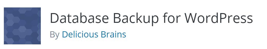 The Database Backup for WordPress plugin