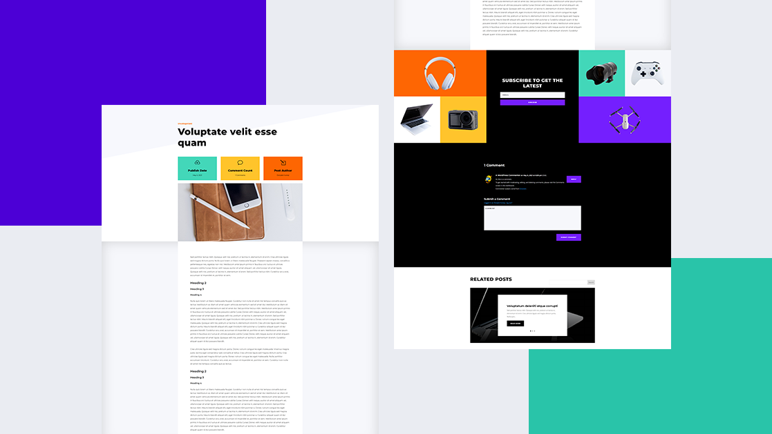Download a FREE Blog Post Template for Divi's Electronics Store Layout Pack
