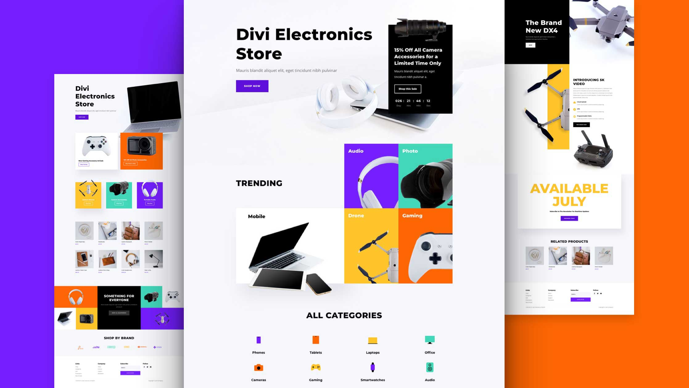 Get a FREE Electronics Store Layout Pack for Divi