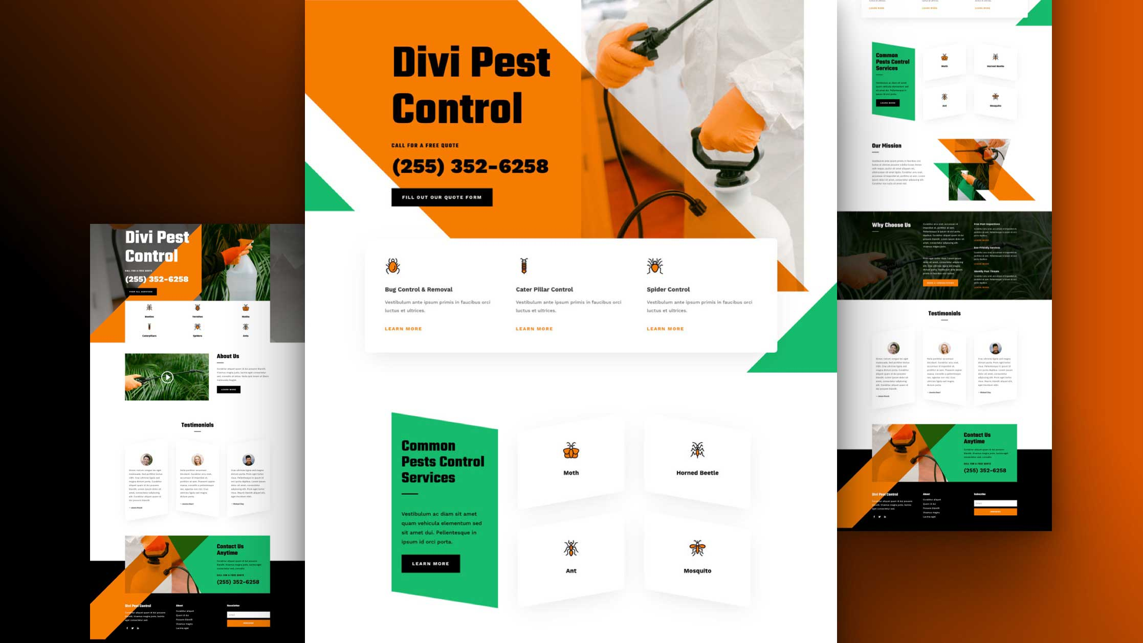 Get a FREE Pest Control Layout Pack for Divi
