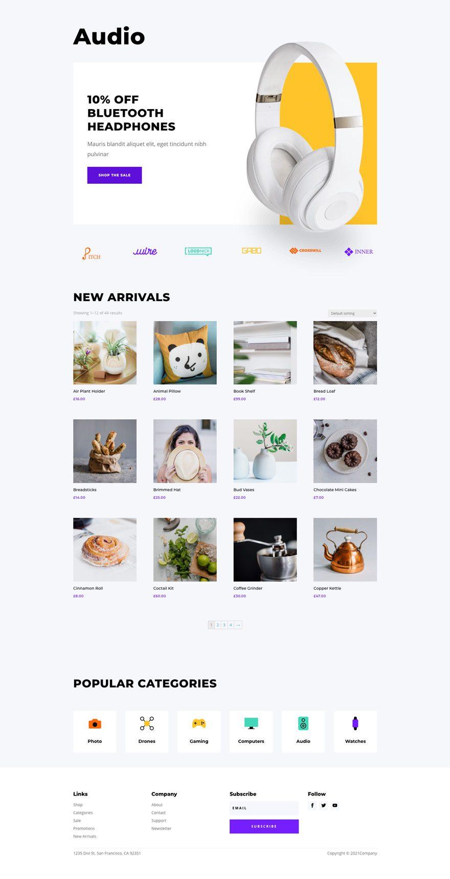 electronics store website