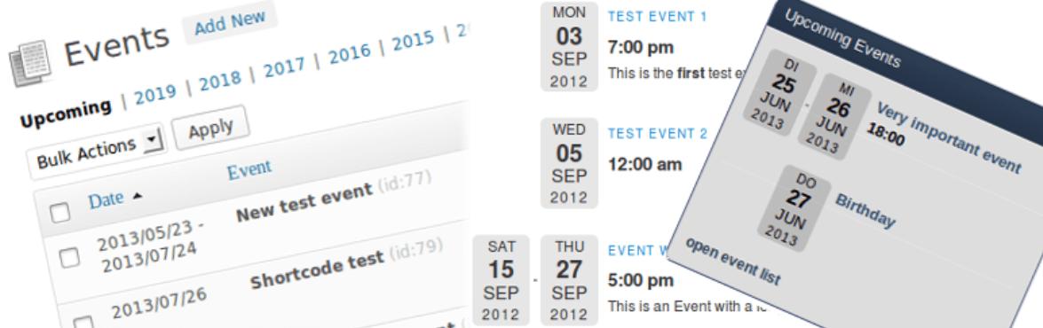 The Event List plugin