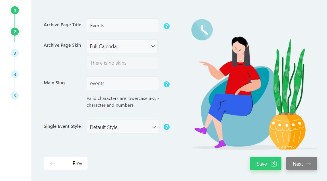 Configuring the Events Calendar Lite plugin